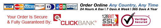 Secure Order Processing via ClickBank 128 bit encryption